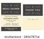 bridal shower invitation and... | Shutterstock .eps vector #285678716