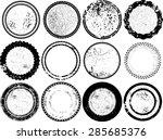 huge vector vintage stamps... | Shutterstock .eps vector #285685376
