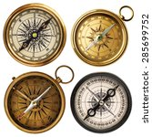 Old Compass Collection Isolate...