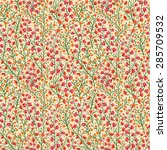 seamless pattern with small... | Shutterstock .eps vector #285709532