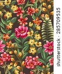 floral seamless pattern with... | Shutterstock .eps vector #285709535