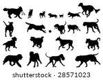 Stock vector dog running silhouettes design elements 28571023