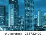 bangkok cityscape at twilight... | Shutterstock . vector #285722402