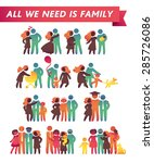 happy family icon multicolored... | Shutterstock .eps vector #285726086