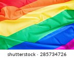 Fabric Texture Of The Gay Flag...