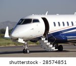 business jet with stair... | Shutterstock . vector #28574851