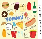 fast food doodles | Shutterstock .eps vector #28575013