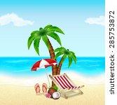 summer vacation background.... | Shutterstock .eps vector #285753872