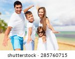 beach  summer  teens. | Shutterstock . vector #285760715