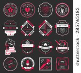 set of vector badges and logos... | Shutterstock .eps vector #285765182
