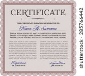 certificate. with background.... | Shutterstock .eps vector #285766442