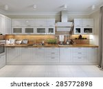 Stock photo contemporary kitchen design d render 285772898