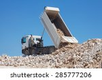 tipper truck unload crushed...