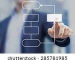feedback flow chart | Shutterstock . vector #285781985