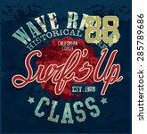 vintage surf print    Shutterstock .eps vector #285789686