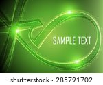 green abstract background | Shutterstock .eps vector #285791702