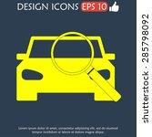 car service icon flat vector... | Shutterstock .eps vector #285798092