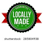 locally made badge on white...   Shutterstock .eps vector #285804938