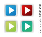 set of squared colorful buttons ... | Shutterstock . vector #285805832