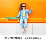 fashion kid. stylish little... | Shutterstock . vector #285810812