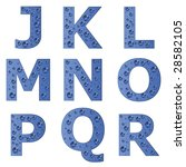 vector bubble alphabet   part 2   Shutterstock .eps vector #28582105