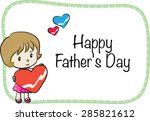 happy father's day | Shutterstock .eps vector #285821612