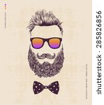 hipster with beard  mustache...