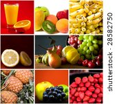 fruits collage | Shutterstock . vector #28582750