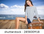 woman  travel  traveler. | Shutterstock . vector #285830918