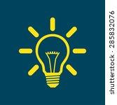 light lamp sign icon. idea bulb ... | Shutterstock .eps vector #285832076