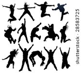 jumping and flying people...   Shutterstock .eps vector #28583725