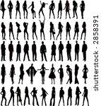 sexy silhouettes women and men  ... | Shutterstock .eps vector #2858391