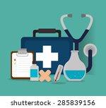 medical design over blue... | Shutterstock .eps vector #285839156