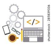 programming software design ... | Shutterstock .eps vector #285839336