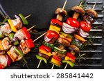 Grilled Vegetables And Fish...