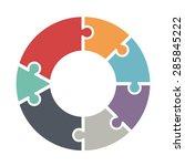 pie chart consists of seven... | Shutterstock .eps vector #285845222