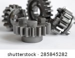 four metal gears on the white... | Shutterstock . vector #285845282