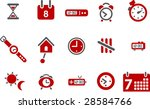 vector icons pack   red series  ... | Shutterstock .eps vector #28584766