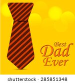 father day greeting card. | Shutterstock .eps vector #285851348