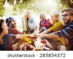 team friendship leisure... | Shutterstock . vector #285854372