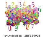 number vector design symbol... | Shutterstock .eps vector #285864935