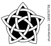 5 point celtic star knot... | Shutterstock . vector #285870758