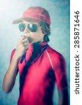 beach safety | Shutterstock . vector #285871646