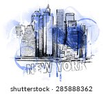 blue skyline | Shutterstock .eps vector #285888362
