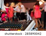 dancing couples during party or ... | Shutterstock . vector #285890042