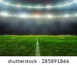 Stadium With Fans The Night...