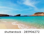the blue lagoon on comino... | Shutterstock . vector #285906272