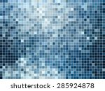 abstract square pixel mosaic... | Shutterstock .eps vector #285924878