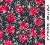 colorful batik seamless pattern ...   Shutterstock . vector #285931526