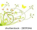 spring flowers and butterflies   Shutterstock .eps vector #2859346